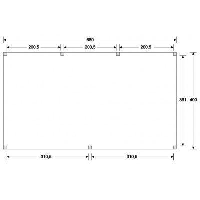 Bild 3 von WoodAcademy Topaas Excellent Douglasie Carport 680x400 cm