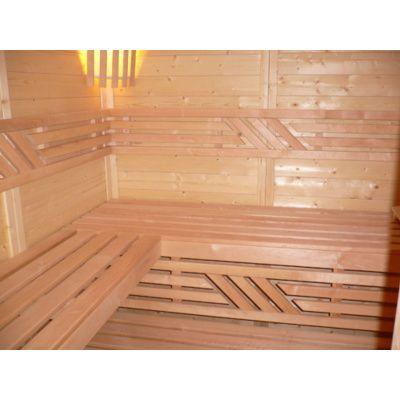 Afbeelding 7 van Azalp Massieve sauna Genio 240x180 cm, 45 mm