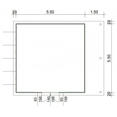Afbeelding 3 van SmartShed Blokhut Isidro 550x550 cm, 45 mm
