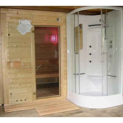 Afbeelding 22 van Azalp Massieve sauna Genio 166x166 cm, 45 mm