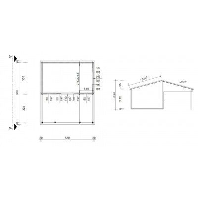 Bild 46 von Azalp Blockhaus Ben 600x700 cm, 60 mm