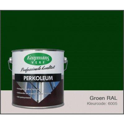 Hoofdafbeelding van Koopmans Perkoleum, Groen RAL 6005, 2,5L zijdeglans (O)