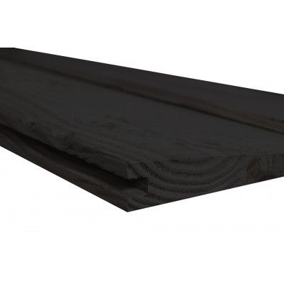 Afbeelding 3 van WoodAcademy Achterwand Vuren 600 cm Zwart (133565)*