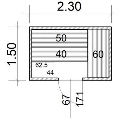Afbeelding 2 van Azalp Massieve sauna Eva 230x150 cm, 45 mm