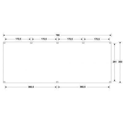 Bild 6 von WoodAcademy Sapphire Excellent Douglasie Gartenhaus 780x300 cm