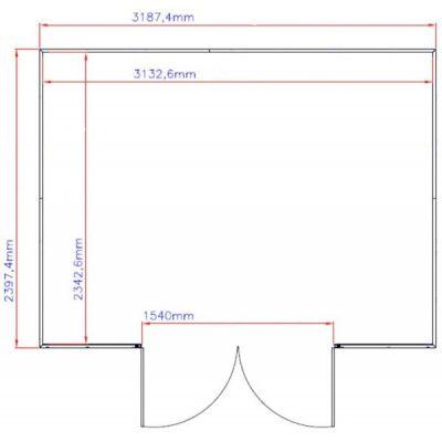 Bild 2 von Duramax Gerätehaus WoodSide 10x8