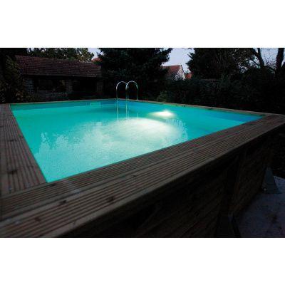 Afbeelding 8 van Ubbink LED-Spot 350 Plus met veiligheidstransformator voor een houten zwembad