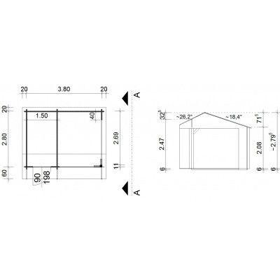 Afbeelding 43 van Azalp Kapschuur Ghita 400x300 cm, 30 mm
