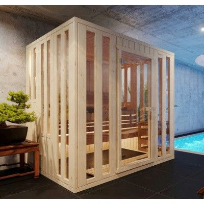 Afbeelding 13 van Azalp massieve sauna Alku 238x173 cm, 40 mm