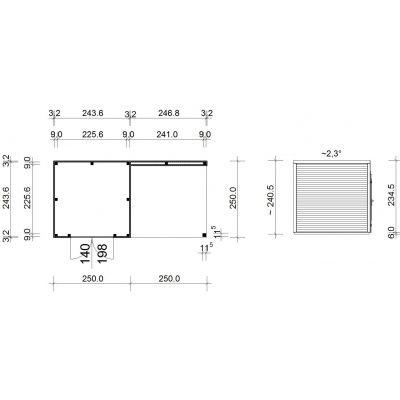 Afbeelding 3 van SmartShed Blokhut Ligne Ultra 500x250 cm