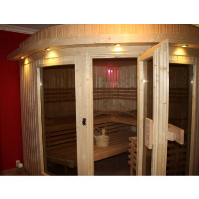Bild 3 von Azalp Sauna Runda 203x237 cm, Fichte