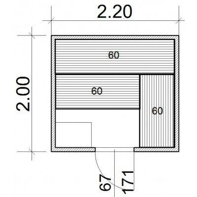 Afbeelding 43 van Azalp Massieve sauna Genio 220x200 cm, 45 mm