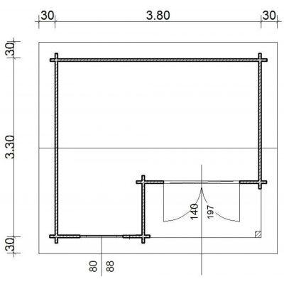 Bild 66 von Azalp Blockhaus Kinross 400x350 cm, 30 mm