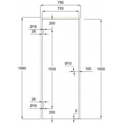 Afbeelding 7 van Ilogreen Saunadeur Trend (Elzen) 199x79 cm, melkglas