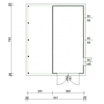 Afbeelding 4 van Azalp Garage Cidro 641x780 cm, 30 mm