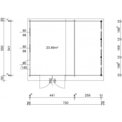 Afbeelding 36 van Azalp Garage Vigo 740x570 cm, 45 mm