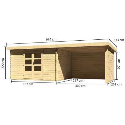 Bild 3 von Woodfeeling Bastrup 7 mit Veranda 300 cm (73334)