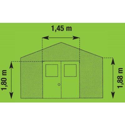 Bild 5 von Azalp Gerätehaus Frigo V7,5, grau-grün