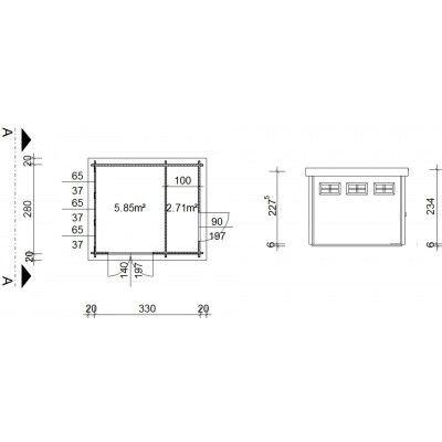 Bild 19 von Azalp Blockhaus Lars 350x300 cm, 45 mm