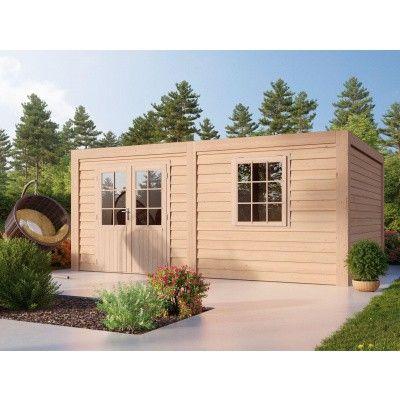 Hauptbild von WoodAcademy Borniet Excellent Douglasie Gartenhaus 680x400 cm
