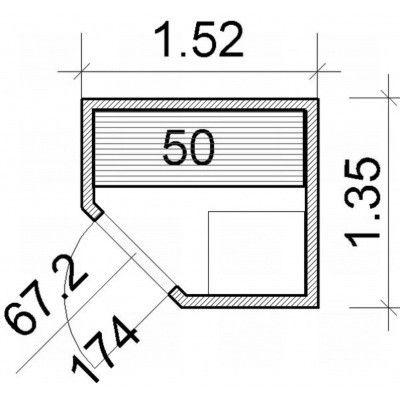 Afbeelding 52 van Azalp Elementhoeksauna 152x135 cm, elzen