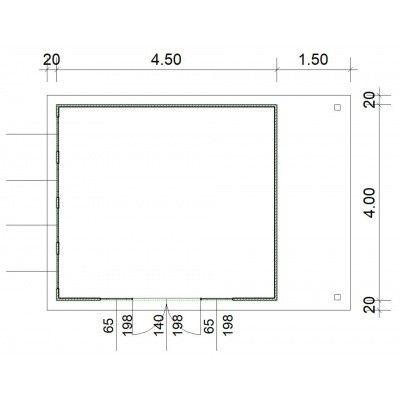 Afbeelding 3 van SmartShed Blokhut Isidro 450x400 cm, 30 mm