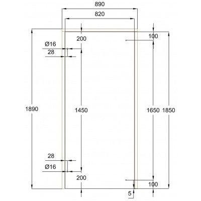Afbeelding 9 van Ilogreen Saunadeur Exclusive (Elzen) 89x189 cm, helderglas