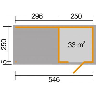 Afbeelding 2 van Weka 413B Gr.1, 546x250 cm antraciet
