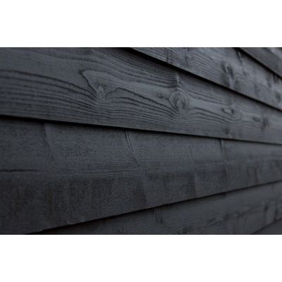 Hoofdafbeelding van WoodAcademy Achterwand Vuren 400 cm Zwart (133563)*