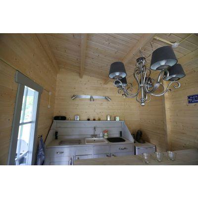 Bild 5 von Azalp Blockhaus Ben 650x650 cm, 60 mm