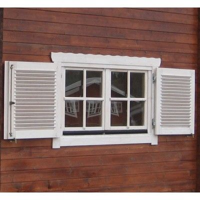 Afbeelding 3 van Azalp Luikenset raam 80x94 cm, lamellen*