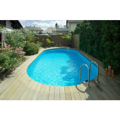 Bild 10 von Trend Pool Beckenrandsteine Tahiti 800 x 400 weiß (für Ovalbecken)