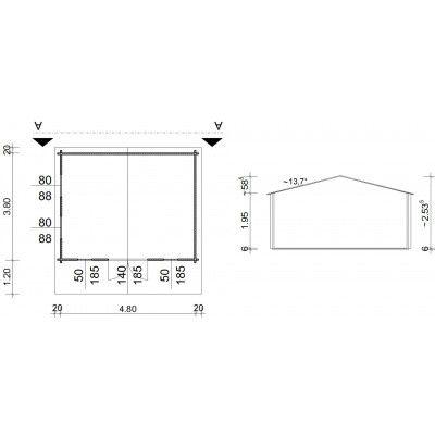 Bild 5 von Azalp Blockhäuser Stefan 500x400 cm, 45 mm