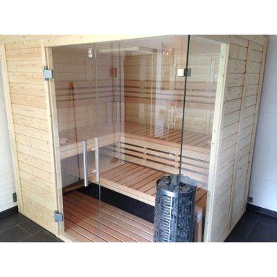 Afbeelding 28 van Azalp Sauna Luja 180x180 cm, 45 mm