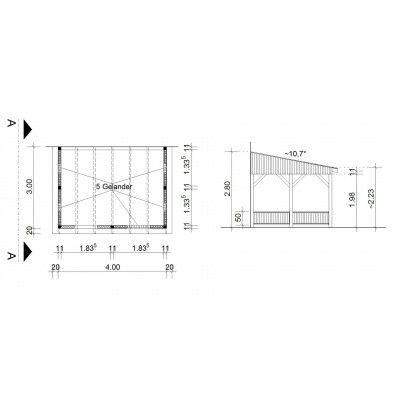 Bild 34 von Azalp Terrassenüberdachung Holz 400x300 cm