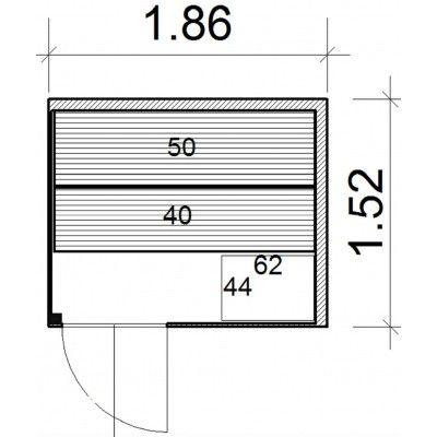 Bild 44 von Azalp Prisma Elementsauna 186x152 cm, Fichte