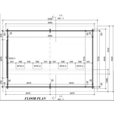 Afbeelding 2 van Graed Twin Garage 400x595 cm, 44 mm