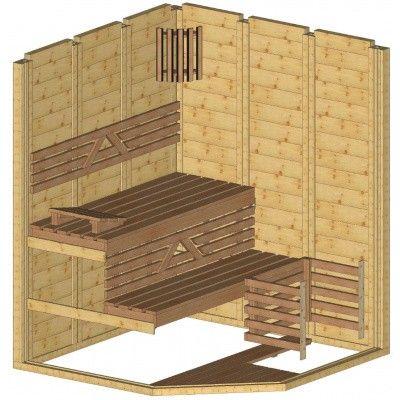 Afbeelding 43 van Azalp Massieve sauna Genio 166x166 cm, 45 mm