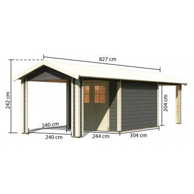 Bild 2 von Woodfeeling Blankenberge 4 mit 2 Anbaudächer Terragrau
