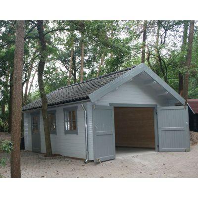 Afbeelding 2 van Azalp Garage Keutenberg 380x536 cm, in 60 mm