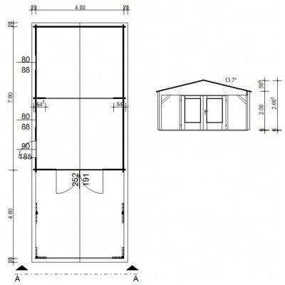 Afbeelding 10 van Azalp Garage Jeffrey 500x800 cm, 95 mm
