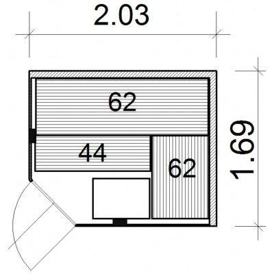Bild 26 von Azalp Kulma Elementsauna 203x169 cm, Erle