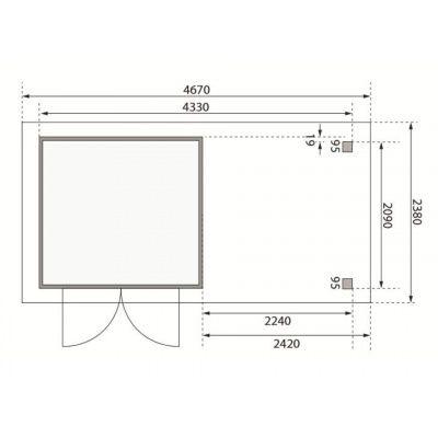 Afbeelding 2 van Woodfeeling Askola 2 met veranda (77722)
