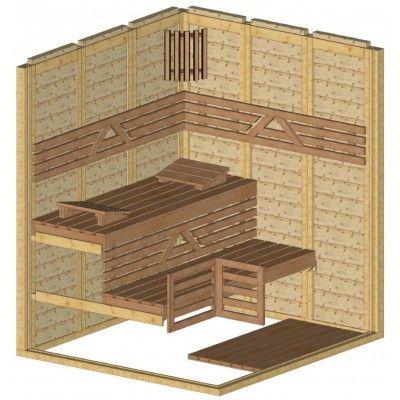 Afbeelding 44 van Azalp Massieve sauna Genio 180x166 cm, 45 mm