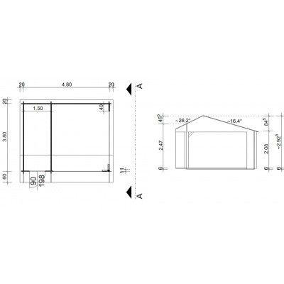 Afbeelding 42 van Azalp Kapschuur Ghita 500x400 cm, 45 mm