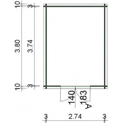 Bild 16 von Azalp Blockhaus Steven 300x400 cm, 30 mm