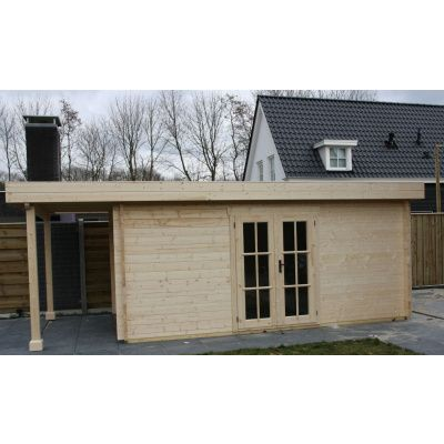 Bild 11 von Azalp Blockhaus Sven 450x500 cm, 45 mm