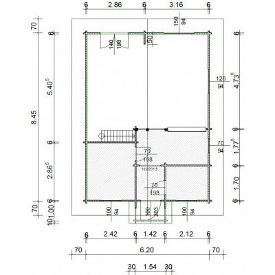 Afbeelding 11 van Azalp Vesta XXL Chalet 640x865 cm, 60 mm