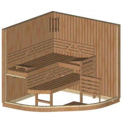 Afbeelding 10 van Azalp Sauna Runda 203x203 cm espen