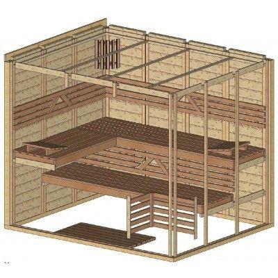 Afbeelding 44 van Azalp Massieve sauna Genio 240x190 cm, 45 mm